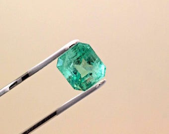 11mm 7.75 ct Square Cut Natural Colombian Emerald Loose Gemstone