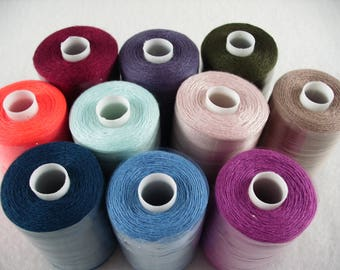 Sewing thread, 10 rolls per 1000 YRD (309)