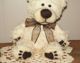 Scented Wax Dipped Bramble Bear