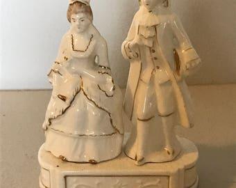 Victorian couple salt & pepper