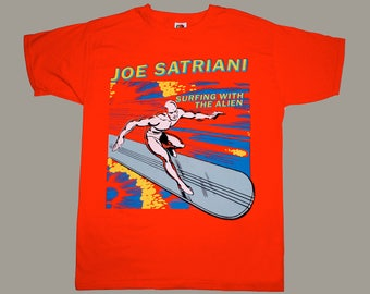 joe satriani - surfing with the alien ... red t-shirt (s-xxl)..guitar god!!