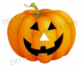 Pin the Nose on the Jack O Lantern Halloween Party Game digital file