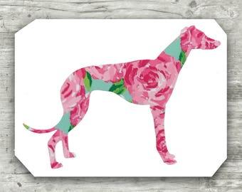 Greyhound Decal, Dog Decal, Greyhound Sticker, Dog Car Decal