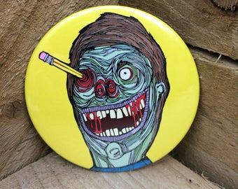 Zombie Pencil Holder Fridge Magnet Funny Horror