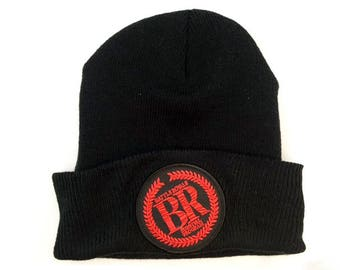 Battle Royale embroidered patch beanie Japanese horror