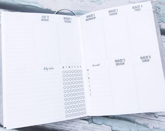 Traveler's Notebook B6 Size Week on Two Pages in VERTICAL Layout {Q2 | April-June 2018} #800-32