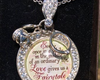 Between Vacations Sale! Fairytale Necklace, Love Fairytale Jewelry, Love Gives Us a Fairytale