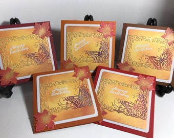 Box of 5 autumn themed cards