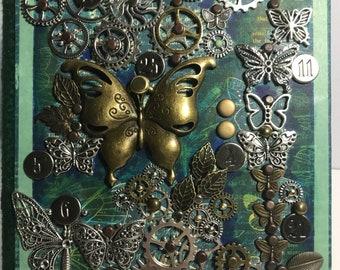 Steampunk butterfly journal