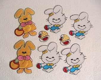 Easter Iron On Patches, Vintage Easter Iron On Patches, Bunnies, Ducks