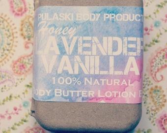 Honey Lavender Vanilla Body Butter Lotion Bar