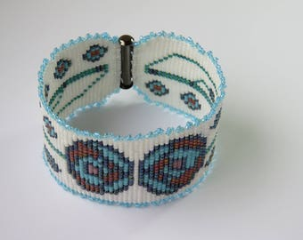 Art Deco Bead Loomed Cuff.