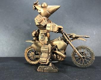 Phineas Mech Riding a Motorbike Custom Figure