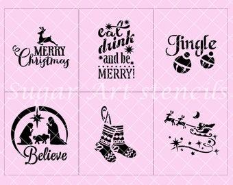 Christmas stencils set of 6  SL20189