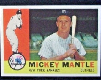 1960 Topps Baseball #350 Mickey Mantle [New York Yankees] RP
