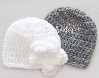 Twin Baby Hats, Twin Hospital Hats, Twin Girl and Boy, Twin Hats, Hospital Twin Outfit, Newborn Twin Hats, Baby Twin, Twins, Twin Babies