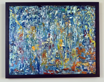 Abstract Oil Painting 20x16 inches by Levent Deparis