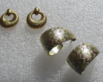 Lot Of Retro Hoop Metal Pierced Earrings