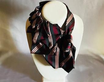 Tie Couture: Pink and Wine Necktie