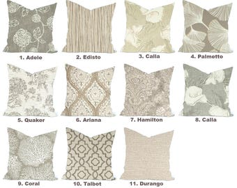 One high quality Magnolia home decor cover, Tan Pillow, decorative throw pillow, Grey pillow, accent pillow,  Throw Pillow