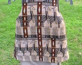 Whole dress and bloomers in wax from Senegal customizable giraffe patterns.