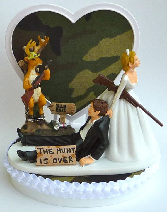 hunting themed wedding cake toppers wedding cake topper deer bait themed w bridal 16212