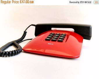 ON SALE Design Awarded Telephone, Iskra ETA86, Red Phone from 80s, Modern Vintage