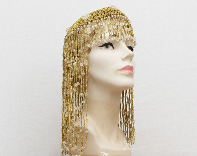 Vintage 1920s Egyptian Revival Gold Flapper Headpiece
