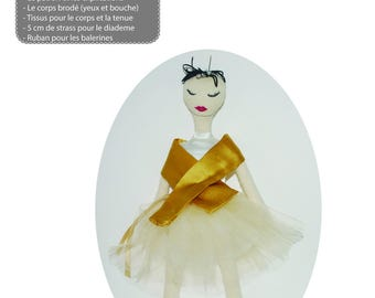 Kit to make cloth doll