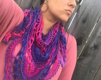PDF Pattern: Morning Magic Shawl- All Season Scarf