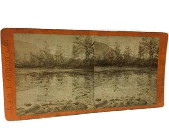Stereoview E. & H.T. Anthony No. 136 Bloody Pond Lake George New York
