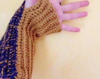 Mezziguanti long knitted wool warmer cuffs