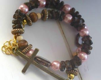 Bracelet For Best Friend   Gift-For-Best Friend, Christian Bracelet, Gift-For-Girlfriend, Cross Gift For Wife, Beaded Bracelet, Jewelry Gift