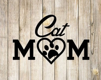 Cat Mom Decal Etsy - Cat custom vinyl decals for car windows