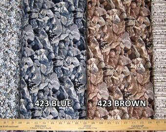 Landscape Cotton Fabric! 4 Options: Pebbles, Rocks, & Birch Trees! [Choose Your Cut Size]