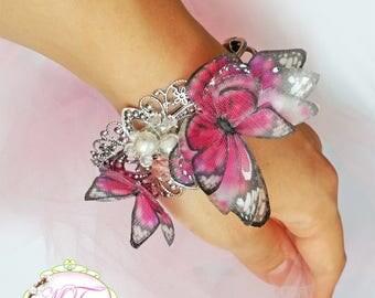 Bracelet Pink butterflies