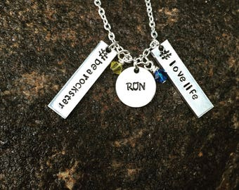 Add on tag, add on rectangle tag, personalization - add a name - hand stamped tag