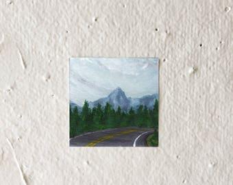 Curved Road - Tiny Art Print!