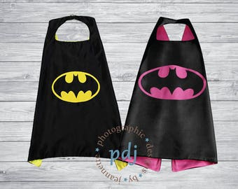 Batman/Bat Girl Personalized Cape! These superhero capes are perfect for your kids to play in. Make great Gifts!