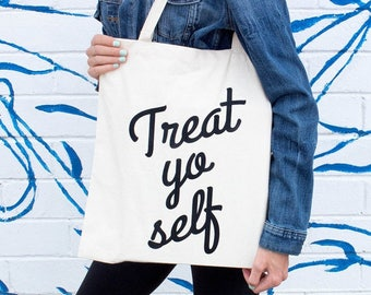 Moving SALE Bridesmaid Tote Bags, Treat Yo Self Tote Bag, Funny Tote Bag, Wedding Party Gift, Brunch, Bridal Shower, For Her, Market Bag,