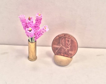 Flowers in Bullet Casing Vase Mini