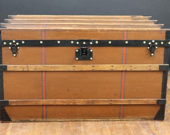Louis vuitton Steamer trunk in Brown canvas