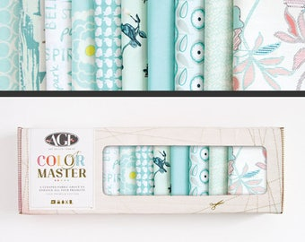 Art Gallery Fabric, Color Master Collectors Box, Fresh Water, FREE SHIPPING, blue fabric bundle, light blue, modern blender, quilting bundle