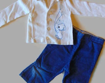 Baby Boy Clothes, Baby Boy Outfit, Corduroy Pants, 18 Month Boy Clothes, Baby Outfits, Baby Outfits For Boys, Boys Pants, Vintage Baby