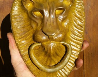 Bronze Lion Head Door Knocker