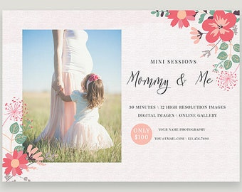 Mothers Day Template, Mommy and Me Session For Photographers, Marketing Template, Photoshop Template, Photo Marketing, DIY c146