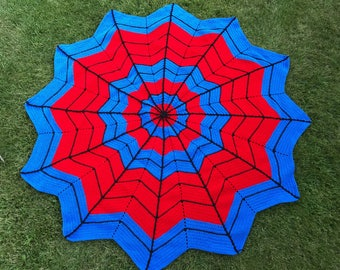 Spiderman Web Afghan