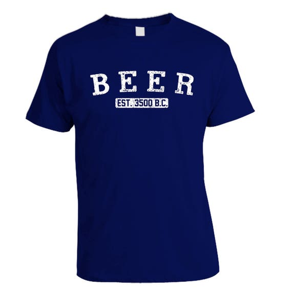 Custom Home Brew Shirts - Get dressed for brew day and show your beer pride - BEER established 3500 BC