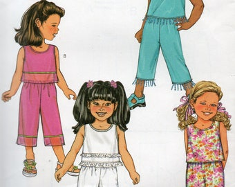 Butterick Fast & Easy LOOSE TOP PANTS Pattern 3789 Child Sizes 2 3 4 5