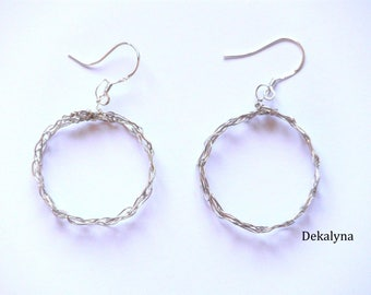 Sterling Silver hook 925 (jewelry round earrings